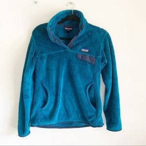 Patagonia Retool Snap T Pullover Blue Navy Fleece